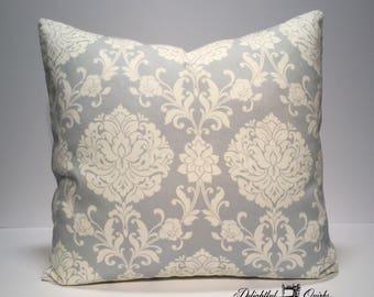Blue Decorative Pillows, Blue White Decorative Pillows, 16x16 Pillow Cover, 16 Inch Envelope Cover, Envelope Cover, Decorative Pillow Cover