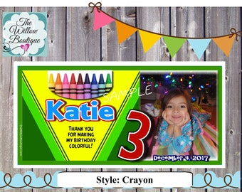 crayon Magnets Personalized with your childs name and photo