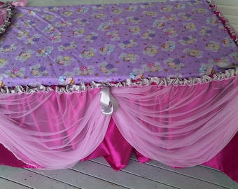 Fairy Table cloth and bunting.