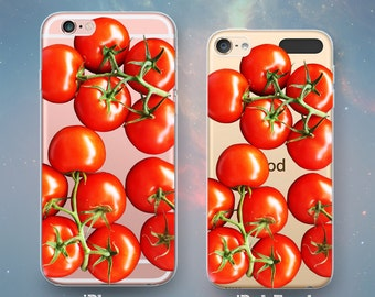 Juicy Red Ripe Tomatoes on the Vine Italian Food Fresh Healthy   Clear  Case for iPhone X 10 8  7 6s 6 Plus SE 5s 5