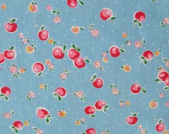 1/2 yard Yuwa Atsuko Matsuyama Japan - Candy Apple - AT116519 - Blue