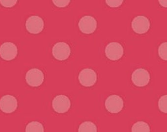 """AVALANA Jersey Knits by STOF fabrics 63"""" Wide   ST19-001   Pink Polka Dots   By the yard"""