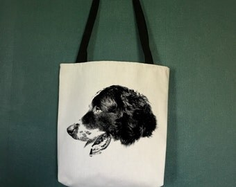 Retriever Tote Bag , Large Totes with Retriever, Gifts for Dog Lovers