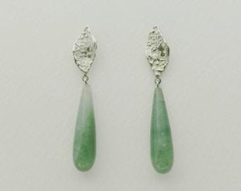 ATITLAN earrings with green gemstones