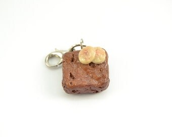 Adorable Brownie realistic charm.Polymer clay-VVsGrotto