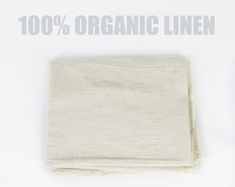 100% Natural Linen - Organic Linen Fabric Woven in Northern Thailand - Natural Linen, Cream Linen, Natural Fabric, Fair Trade Organic Fabric