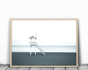 Beach Photography, Nature Photography, Minimalist Photography, Black and White Photography, Beach Poster, Beach Printable, Beach Wall Print