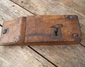 Antique French Wooden Case Lock