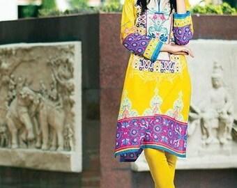 Clearance Bohemian Dress embroidered Kurta Tunic Boho Hippie Indian Pakistani kurta dress Lawn cotton