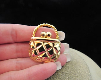 Vintage Goldtone Purse Pin