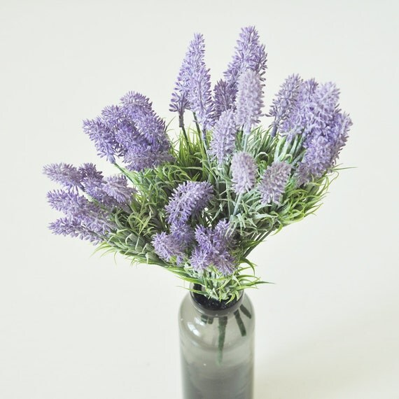 Artificial Lavender,Faux Lavender,Artificial Ferns,Dusty Lavender,Flower Arrangement,Pastel