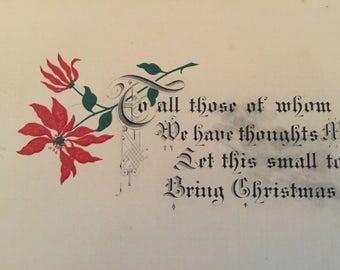 Vintage Christmas Card - Vintage Holiday Card - Warm Wishes Holiday Card - Warm Wishes Christmas Card - Rare Christmas Card - Free Shipping