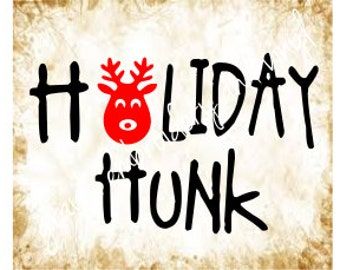holiday hunk svg dxf