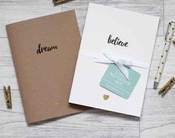 Dream Believe Notebook - Luxury A5 Notebook Set