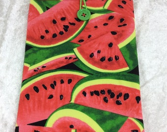 Water Melons Medium Tablet Case fabric cover pouch handmade in England