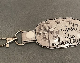 Just Breathe Key Fob and Bag Charm