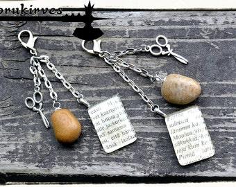 Kivi-paperi-sakset avaimenperä/laukkukoru