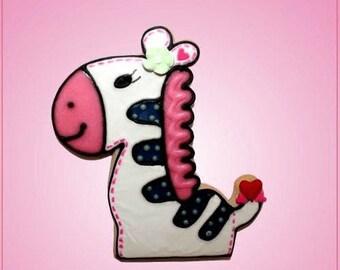 Pink Zoe Zebra Cookie Cutter