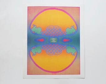 Peter Max 1960s 123 Infinity Retro Psychedlic Poster 1960s Poster, Retro Wall Art, Rainbow Colors, Trippy Modern Art, Legends, Home Wears