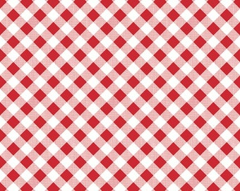 1/2 yd Sew Cherry 2 Gingham Fabric by Lori Holt for Riley Blake C5808 Red