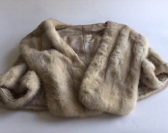 Luxury Mink Blonde Stole - Capelet