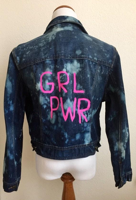 Oversized GRL PWR Denim Jacket