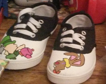 Minimalist Mad Hatter & March Hare Girl Shoes