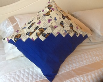 Butterfly log cabin cushion cover
