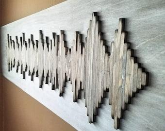 Custom Soundwave Wall Art - Wood Wall Art - Soundwave Art - Anniversary Gift - Unique Gift Idea - Hospitality Art - Hotel Art
