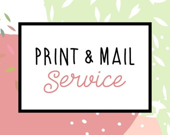 Print & mail service
