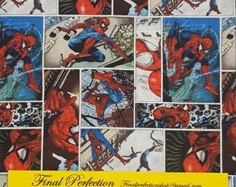 Spiderman Comic Fabric-Fabric by the Yard-Fat Quarter