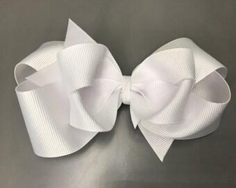 White boutique bow