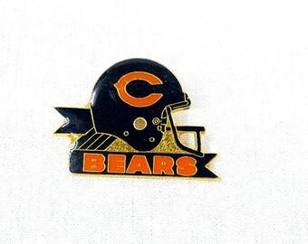 Chicago Bears Football Helmet Enamel Pin