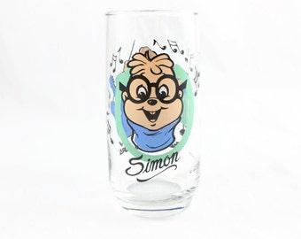 1985 Simon Chipmunk Glass (Alvin and The Chipmunks)