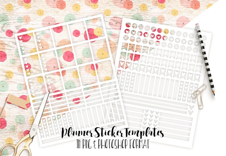 planner sticker templates personal use blank diy sticker