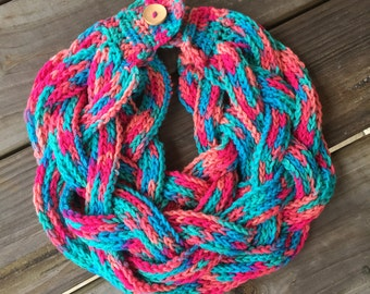 Child Size Braided Cowl  *FREE SHIPPING*