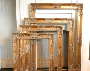 Large Vintage Style Frames Ornate Wedding Picture Frames Shabby Chic Gold Baroque Frames Hand Painted Options Available