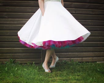 Rainbow Multi-Coloured Petticoat - Made-to-Measure in Any Colours & Size
