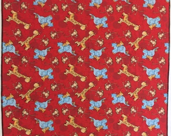 Giraffe, Elephant & Monkey Receiving Blanket #Swaddle Cloth#Baby