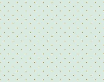 SALE Wonderland Two Fabric Yardage, Cards Mint Sparkle, Riley Blake Designs
