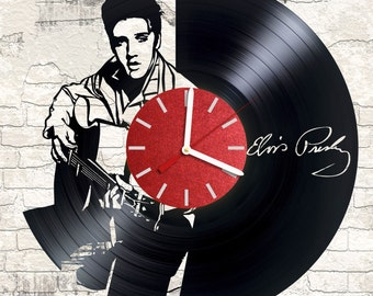 Vinyl wall clock Elvis