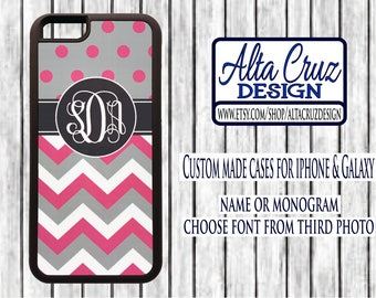 Personalized Monogrammed cell phone case, iPhone or Galaxy, name or monogram #136