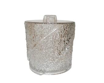 Vintage, Textured Lucite Ice Bucket