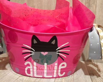 Personalized Cat Bucket