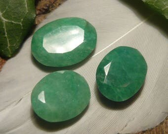 DISCOUNT Set of Emeralds, 13.5ct total
