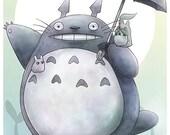 Totoro Glossy Poster Print - Free USA Shipping