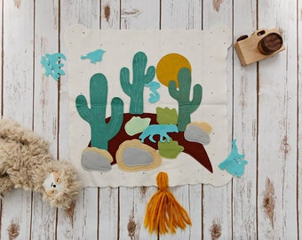 Felt Board Stories, Desert Play Mat, Felt Board, Removable Pieces