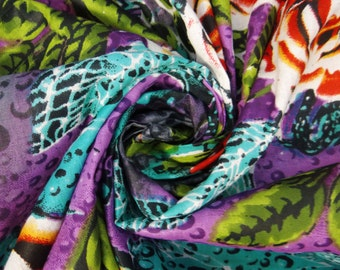 """Decorative Cotton Fabric For Sewing Designer 100% Cotton Fabric 42"""" Wide Floral Printed Crafting Woman Dress Material By 1 Yard ZBC4870"""