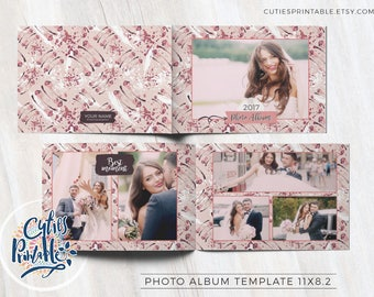 Wedding Photo Album, psd photoshop template • HIGH resolution • Template customizable