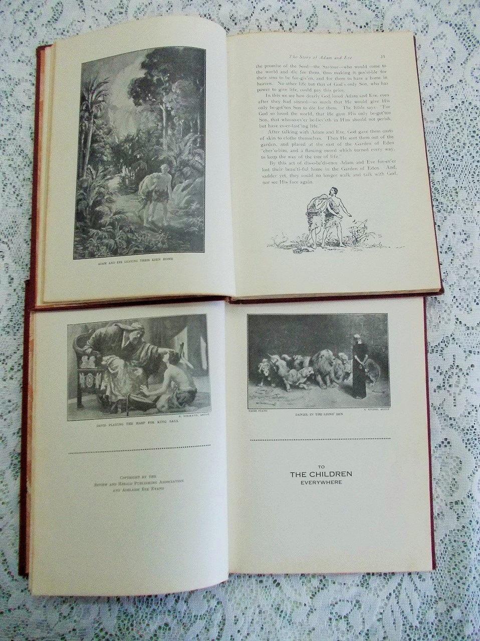 1920s children u0027s bible books full page illustrations easy steps